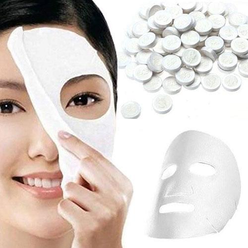 Compressed-Tissue-Face-Mask-Tablets
