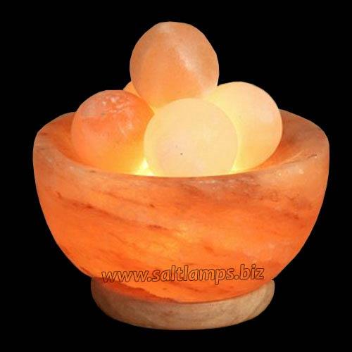 Fire Bowl with Salt Balls lamp