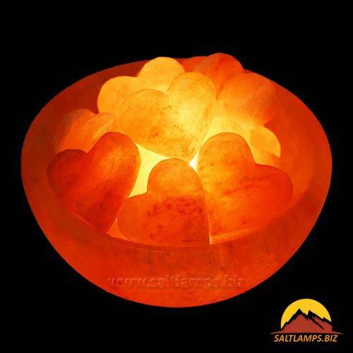 Heart Fire Bowl big Salt lamp