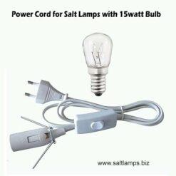 Salt Lamp Power Cord with 15watt Bulb