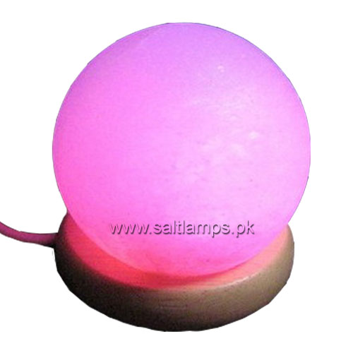 USB Globe Shape Salt Lamp