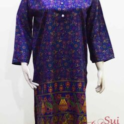 Stitched Lawn Kurti In Blue Color